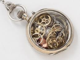 owl necklace rose gold images Rose gold and sterling silver pocket watch case necklace hand jpg