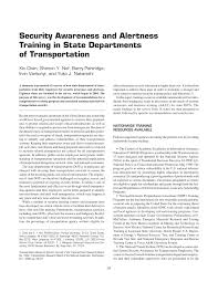 security awareness and alertness training in state departments of