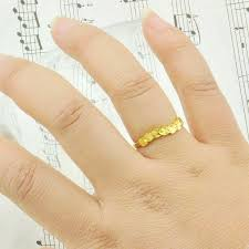 popular cheap gold rings for men buy cheap plated 24k gold ring wavy leaf gilded ring ring women