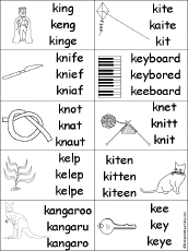 letter k alphabet activities at enchantedlearning com