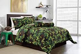 Queen Sized Comforters Amazon Com Hunter Green Brown Black Camouflage Camo Pixel