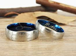 marriage rings images images Handmade your marriage vow signature rings wedding rings two tones jpg