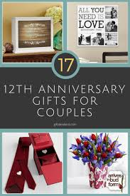 35 good 12th wedding anniversary gift ideas for him u0026 her