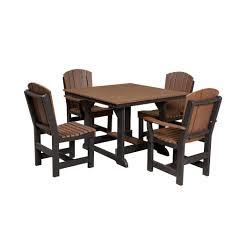 5 Piece Patio Dining Sets - wildridge outdoor 5 piece square dining set rocking furniture
