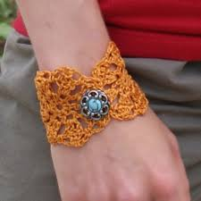 crochet bracelet diy images Crochet flower bracelet jpg