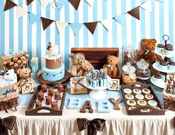 teddy decorations brown blue baby shower decorating ideas teddy decorations