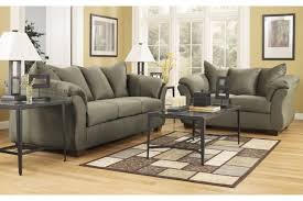3 piece living room table sets ashley darcy sage 2 pc living room set 7500338 7500335 home