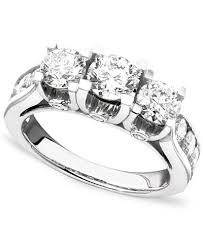3 diamond rings diamond ring in 14k white gold 3 ct t w rings jewelry