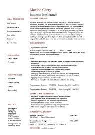 business intelligence resume example sample template job best