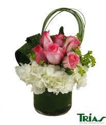 White Hydrangeas Pink Roses With White Hydrangeas Miami Flower Delivery