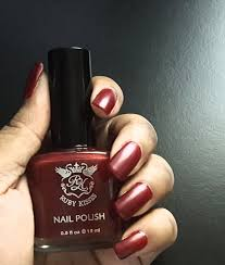 ruby kisses nail dark cherry polish perfect fall color youtube