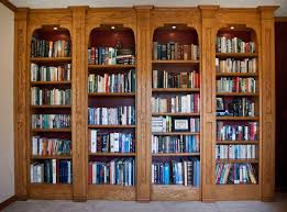 Bookshelves With Sliding Glass Doors Wide Chocolate Wooden Bookshelf With Triple Tiered Sliding Glass