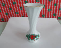 Lenox Christmas Vase Holiday Vase Etsy