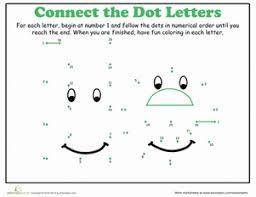 dot to dot alphabet e worksheet education com