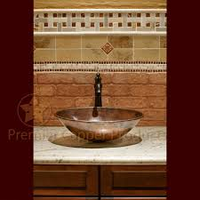 Hammered Copper Bathroom Sink Premier Copper Products Vo17wdb Oval Wired Rimmed Vessel Hammered