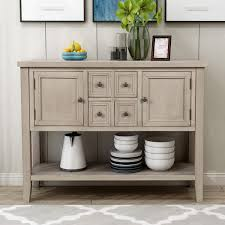 buffet sideboard cabinet storage kitchen hallway table industrial rustic 46 wood console table storage cabinet buffet cabinet sideboard with four storage drawers two cabinets and bottom shelf for dining room home