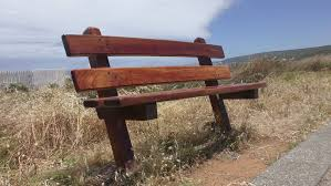 Landscape Timber Bench Empty Lonely Wooden Bench In Remote Rural Country Outdoor High