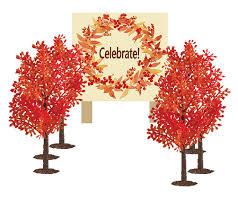 6 fall trees cake food cupcake decoration plant tree topper