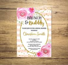 brunch bridal shower invitations brunch and bubbly bridal shower invitation watercolor flowers