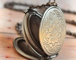 locket necklace with photo images Antique lockets etsy jpg