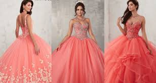 coral quince dress coral quinceanera dresses you to try on quinceanera