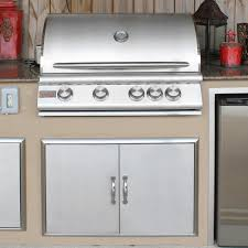 blaze 32 inch 4 burner built in natural gas grill with rear