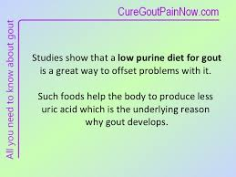 effective low purine diet for gout