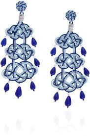 blue chandelier earrings e alex blue passeterie chandelier earrings where to buy