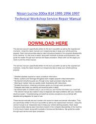 nissan lucino 200sx b14 1995 1996 1997 technical workshop service