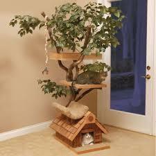 the feline tree house hammacher schlemmer