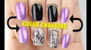 diy color changing secret message nails youtube