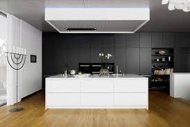 cuisine moderne noir et blanc cuisines cuisine moderne idée originale noir blanc ilot central