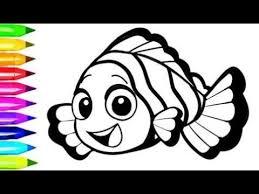 nemo clown fish coloring pages learn colors kids nemo