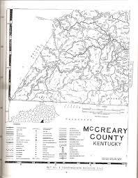 County Map Kentucky Mccreary County Kentucky Cemeteries