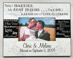 personalized wedding photo frame personalized today i married my best friend wedding photo frame