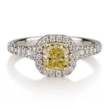 yellow engagement rings antique colored diamond engagement rings colored diamond
