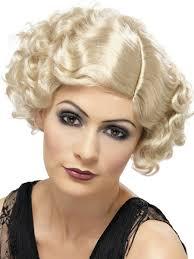 1920 u0027s flapper curly blonde wig 42003 fancy dress ball