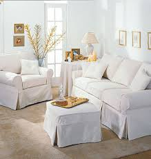 ikea slipcover sofa white slipcovered sofa apartment therapy with chaise sectional