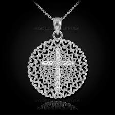 cross diamond pendant necklace images White gold filigree heart cross diamond pendant necklace jpg