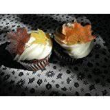 Fall Cake Decorations Amazon Com Mini Edible Fall Leaves Set Of 48 Cake Decorations