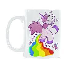 inexpensive coffee mug interestprint cartoon unicorn pooping