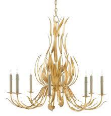 Gold Leaf Chandelier Longleaf Chandelier Currey U0026 Company