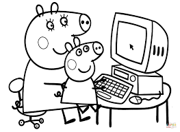 Peppa With Mummy Coloring Page Free Printable Coloring Pages Coloring Pages