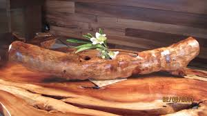 wood log vases hawaiian wood boxes vases signs and carvings r k builders hawaii
