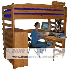 Diy Loft Bed With Desk How To Build A Loft Bed With Desk Loft Bed Plans Showing How To