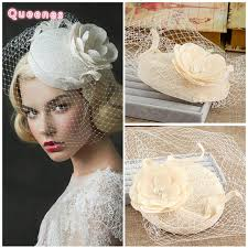 beige linen lace fascinator hats fashion wedding flowers pearls