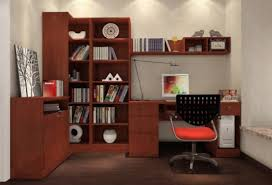 3d design bookcase desk in study 3d house
