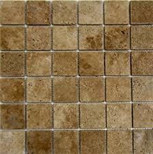 X Noche Noce Tumbled Travertine Mosaics Meshed On  X - Noce travertine tile backsplash