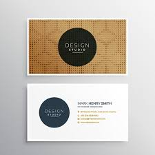 Free Graphics For Business Cards Brown Business Card With An Elegant Pattern Vector Free Download