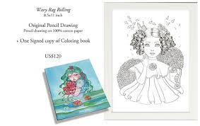 mermaid in dress coloring book by ikuko u2014 kickstarter